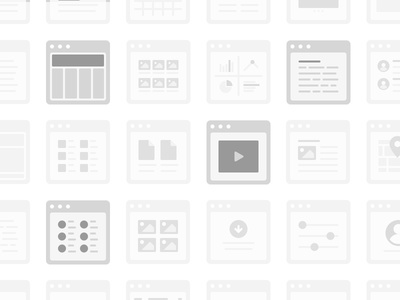 Simple Sitemap Cards sitemap card user flow wireframe icon browser
