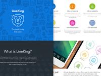 LineKing Landing Page