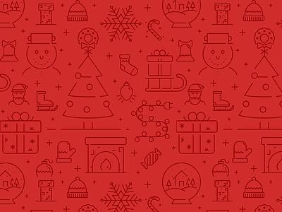 Christmas Icons Pattern holiday christmas texture icon pattern stroke icons line icons icon set icons