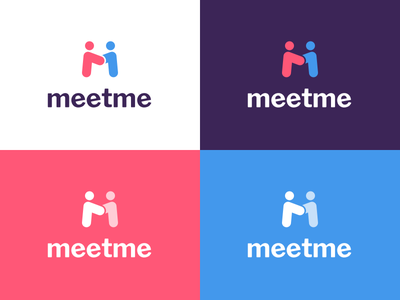 Instant Logo Explorations hangout meetup love flirt dating brand meeting symbol logomark logo