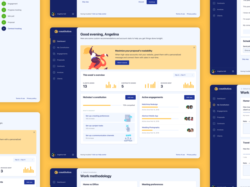 Client Management Designs Themes Templates And Downloadable Graphic Elements On Dribbble