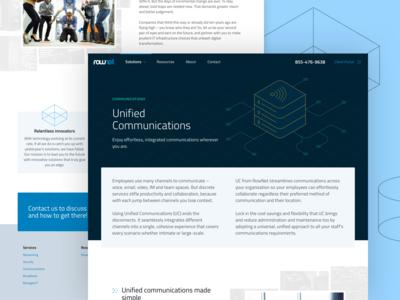 Responsive website for Rownet