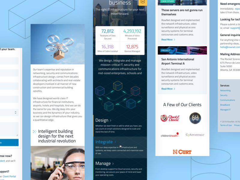 Mobile first website for Rownet