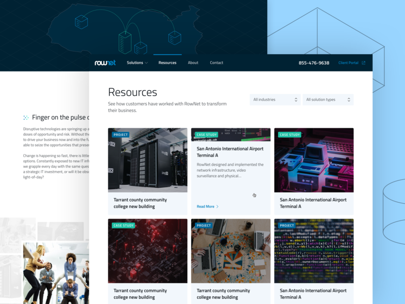 Resources page for Rownet