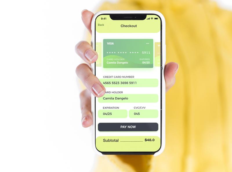 Credit Card Checkout dailyuichallenge dailyui 002 002 dailyui ui credit car checkout app design app