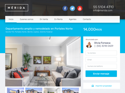 Merida Real Estate Theme template real estate ui website