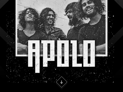 Apolo Website landing page music band template rock ui website