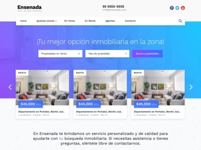 Ensenada Real Estate Theme gradient home ui template real estate
