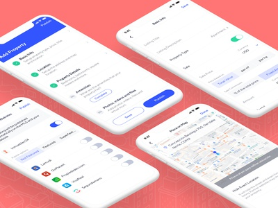 EasyBroker - Add Listing crm ios 12 ui app real estate map property add form new listing