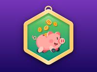 New Year Piggy Badge