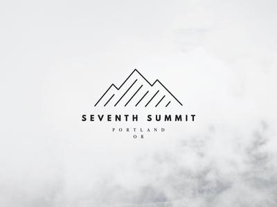 Seventh Summit Final Logo outdoor branding outdoor logo pacific northwest illustration mountain portland