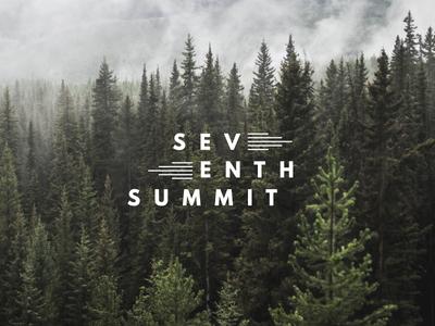 Seventh Summit Alternate Mark outdoor branding outdoor logo pacific northwest illustration mountain portland