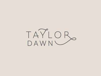 Taylor Dawn Design Concept custom typography modern branding custom type branding typography