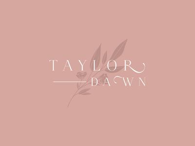Taylor Dawn Final Logo illustration sketch script handlettering typography branding photographer logo floral