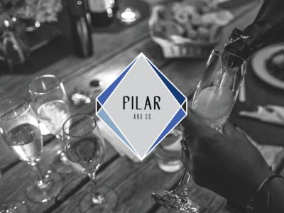 Pilar & Co. Final Logo Mark logo branding wedding planner event planner geometric