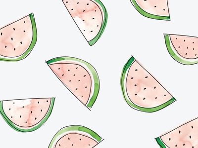 Watermelons pattern design icons custom illustration icon watermelon watercolor