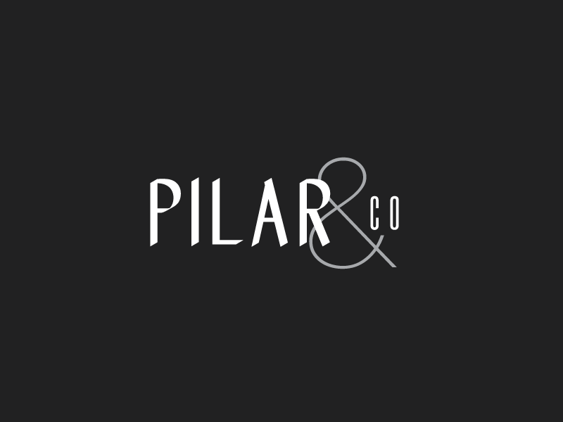 Pilar & Co. Secondary Logo Mark wedding planner logo ampersand event planning typography type modern typography