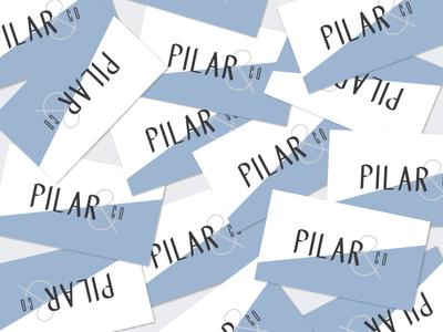 Pilar & Co. Business Cards printed design modern typography business cards branding logo