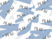 Pilar & Co. Business Cards printed design modern typography business cards branding logo
