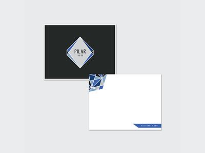 Pilar & Co. Stationery modern typography geometric modern stationery