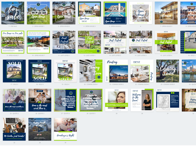 Real estate Instagram template set