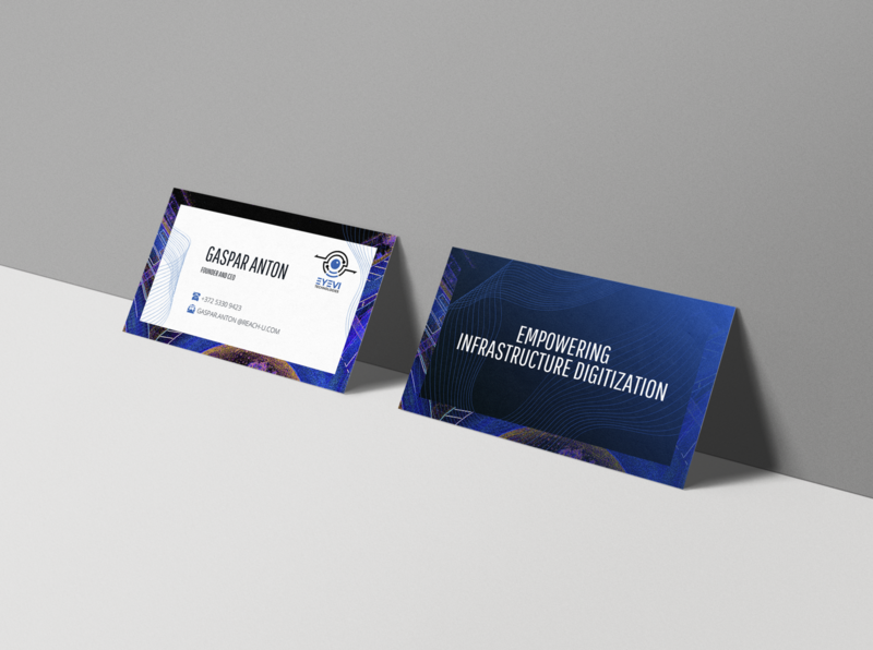 Businesscard for a 3d mapping company business card design business card businesscard