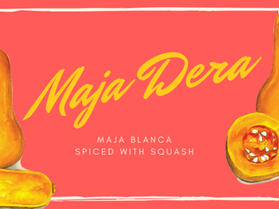 Product Label for a Maja Blanca product