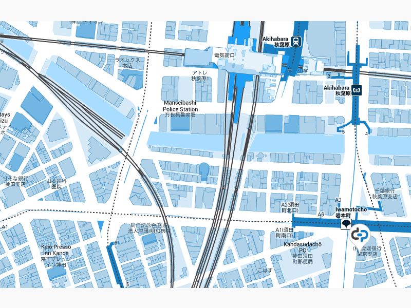 Akihabara - customized Google Map by Goodpatch Tokyo | Dribbble ...