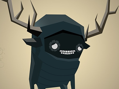 Help this little guy he is lost in jungle illustration 2d character design game