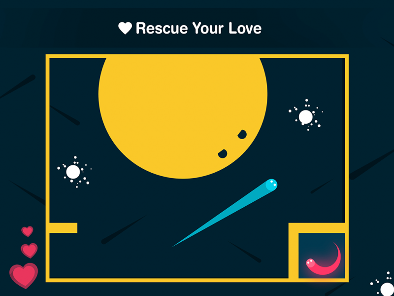 Wanna rescue you love ? art flat design game mobile