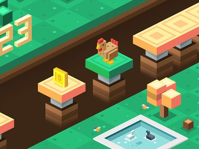 Isometric game design made by my senior art flat design game mobile