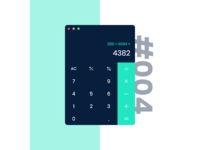 Daily UI #004 / Calculator