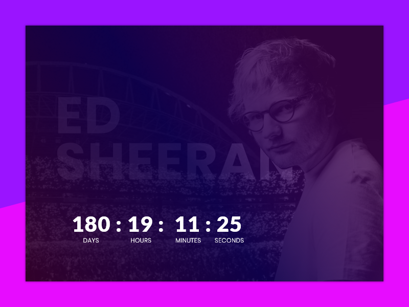 Daily UI #014 / Countdown Timer by Frederik Rasmussen on