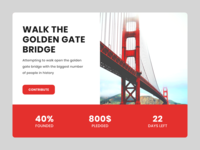 Daily UI #032 / Crowdfunding Campaign