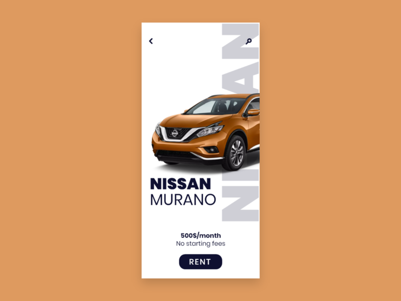 Daily UI #034 / Car Interface 034 orange car app interface car colors adobe xd app ux vector daily blue illustrator daily 100 challenge ui typography challenge daily ui illustration design