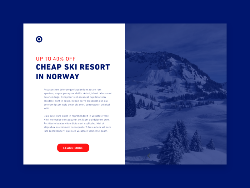 Daily UI #036 / Special Offer special offer resport vacation web red colors adobe xd ux daily daily 100 challenge blue illustrator typography ui challenge daily ui illustration design 36 036