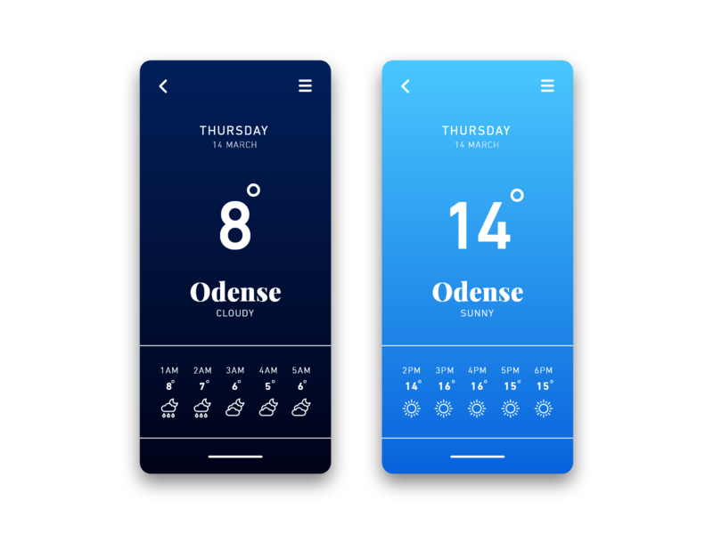 Daily UI #037 / Weather 037 weather iphone web branding colors adobe xd app ux vector daily daily 100 challenge blue illustrator typography ui challenge daily ui illustration design