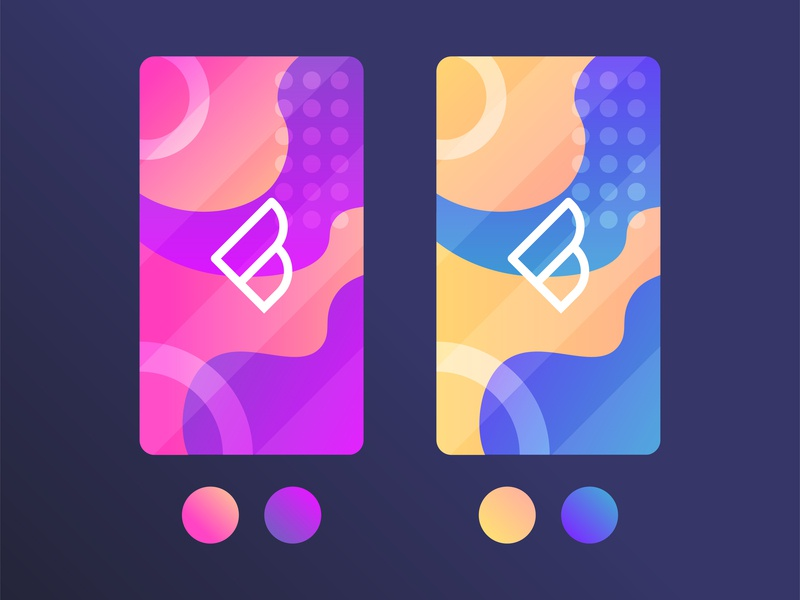 Random web flat illustrator vector ui icon ux purple yellow blue branding style circle logo colors gradient illustration design
