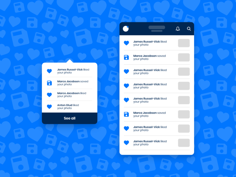 Daily UI #047 / Activity Feed app activity feed notification icon branding colors adobe xd vector ux daily blue daily 100 challenge typography illustrator challenge daily ui ui illustration design 047