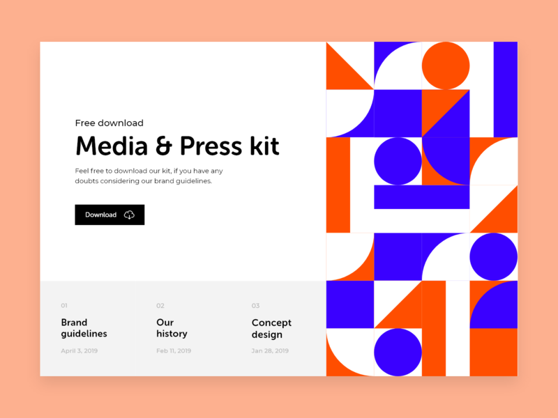 Daily UI #051 / Press page website web red branding colors adobe xd vector ux daily blue daily 100 challenge typography illustrator challenge design ui illustration daily ui 051 press page