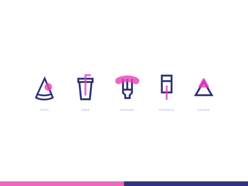 Daily UI #055 / Icon Set dynamic branding colors adobe xd vector ux daily pink blue daily 100 challenge typography illustrator challenge daily ui icon icon set icons ui illustration design