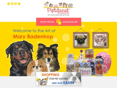 Pet Lovers Ecommerce Website Landing page