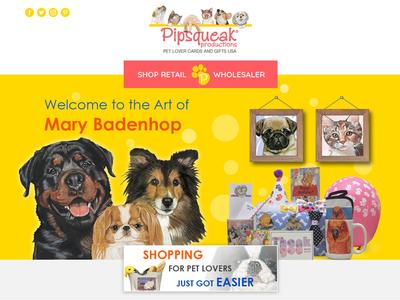 Pet Lovers Ecommerce Website Landing page