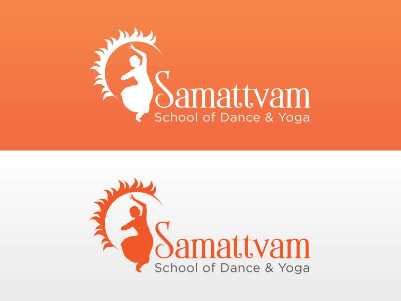 Bharatanatyam Dance Studio dance bharatnatyam logo design