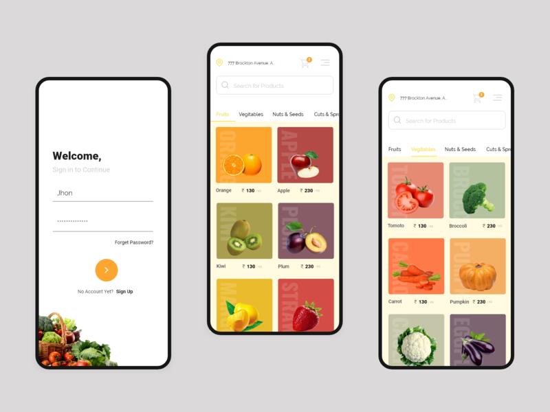 Fresh Shop - Mobile app design