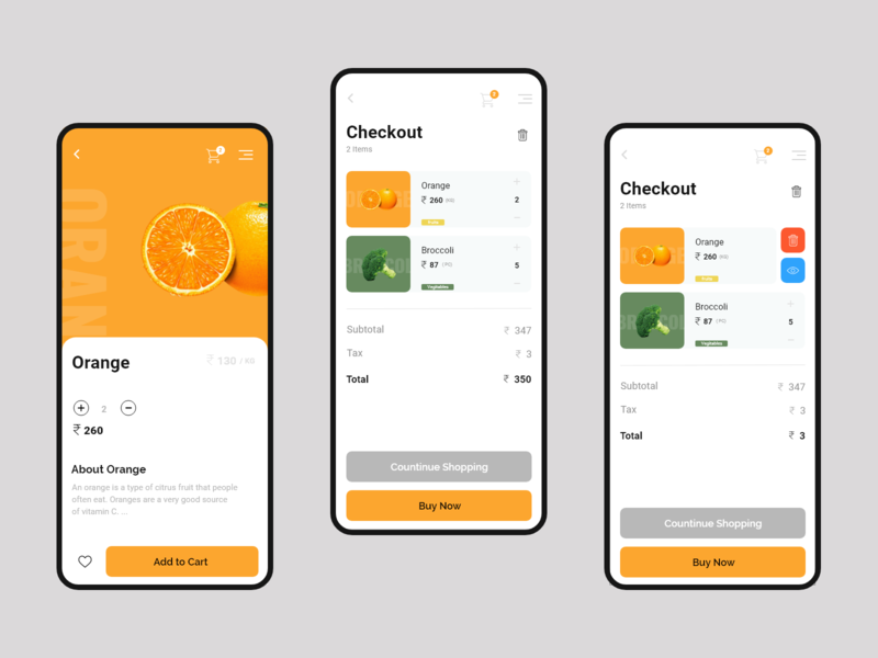 Fresh Shop - Mobile app design - 2