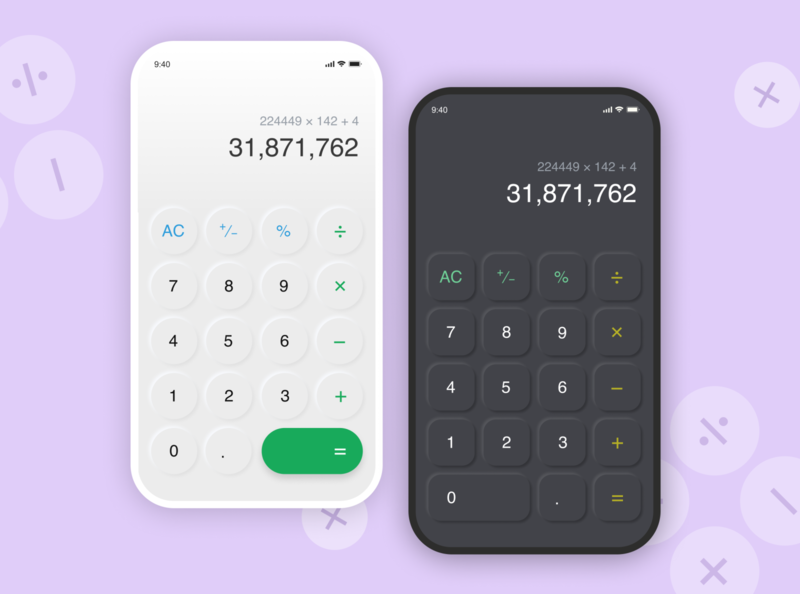Calculator UI calculator figma dailyui