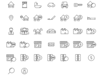 Real estate themed icons