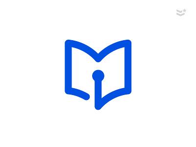 BookWorm™ thirtylogos bookworm worm book logodesign logo