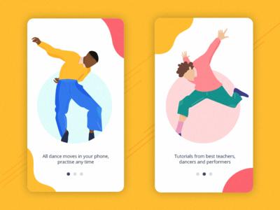 Dance App Illustrations character dance flat inspiration vector illustration